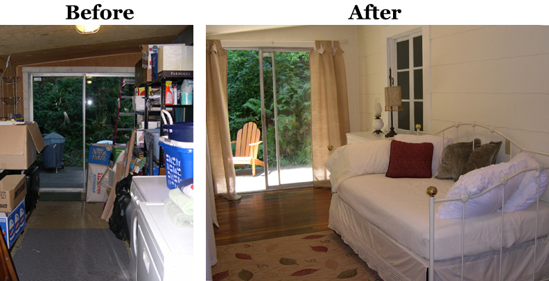 Cluttered room before and after the for Minimalism before and after